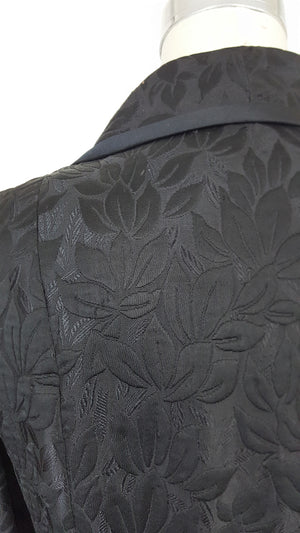 Vintage 1990s Black Silk Jacket With Pockets