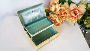 Vintage 1950s 1960s Jewelry Box By Farrington With Ballerinas