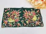 Vintage Basket With Autumn Foliage And Colors Hanky