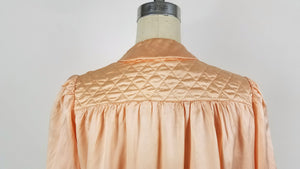 Vintage 1930s Bed Jacket In Peach Silk