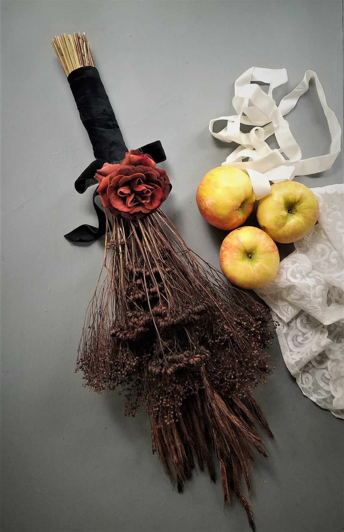 Witches Broom or Besom of Rye and Yarrow