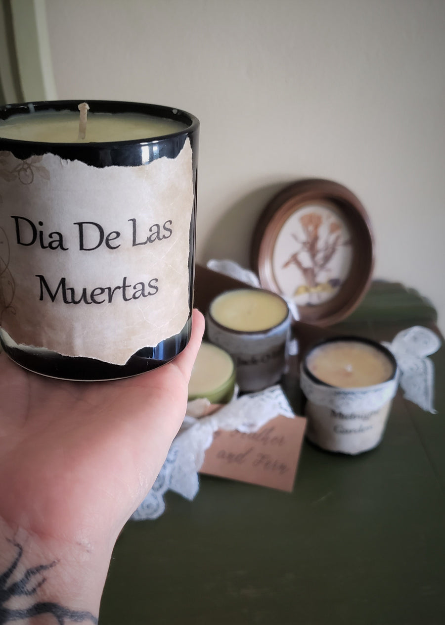 Dia De Los Muertos Spiced Hot Chocolate Scented Soy Wax Candle