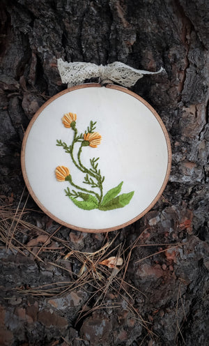 """Dandelions"" Hand Embroidered Hoop Art"