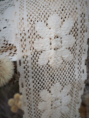 Naturally Plant Dyed Ivory Vintage Lace