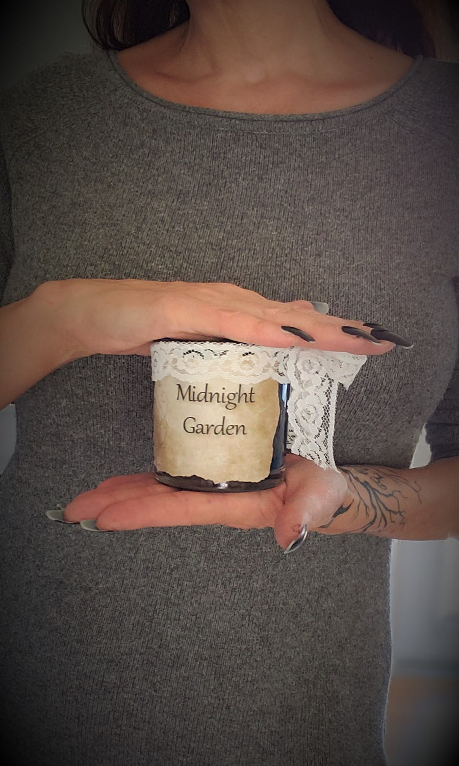 """Midnight Garden"" Orange Blossom Scented Candle"