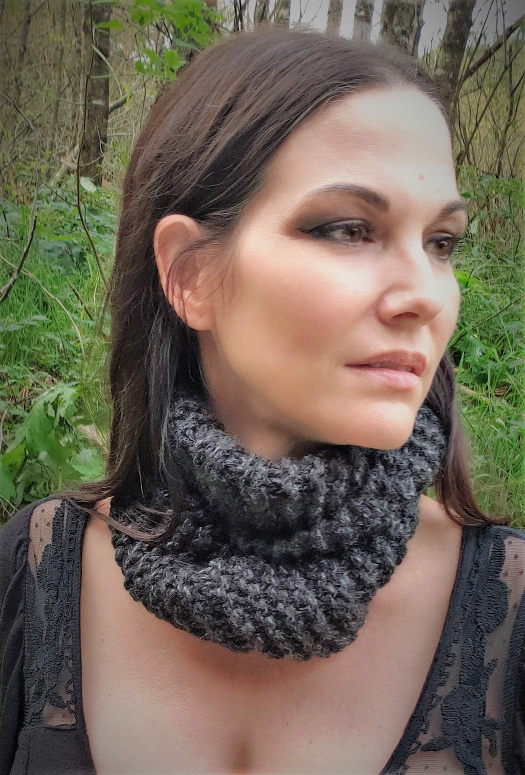 The Evening Storm Handmade Infinity Scarf