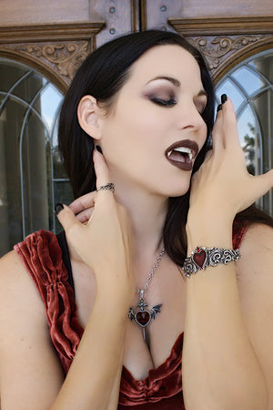 "Alchemy Gothic ""Death of a Vampire"" Pendant Necklace"