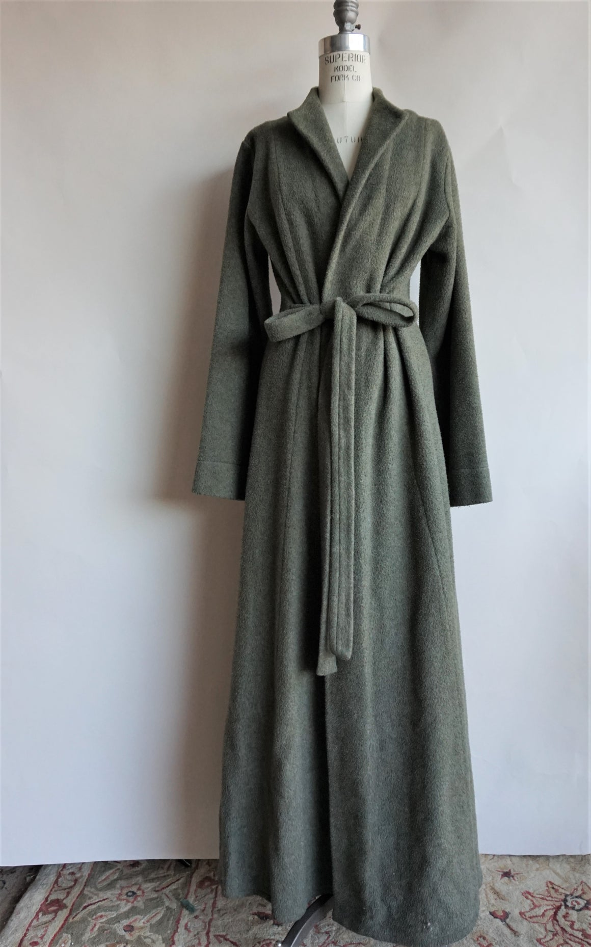 Jane Booke Green Fleece Duster Coat