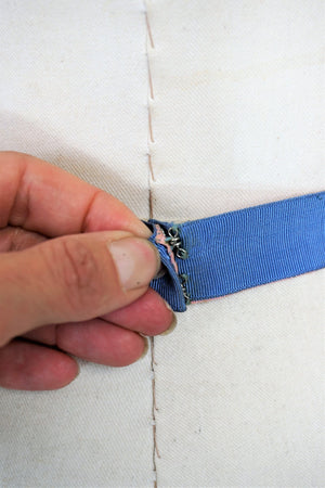 Vintage 1930s Belt of Grosgrain Ribbon Bows in Blue And Pink