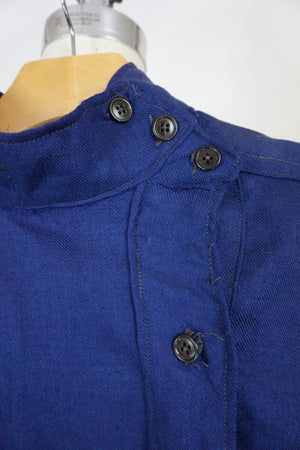 Vintage Mans Shirt In Blue Wool