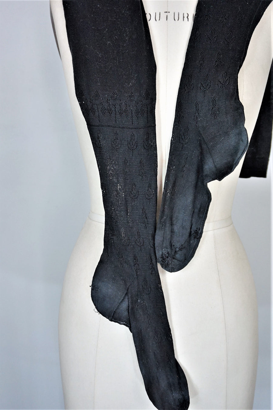 Antique Victorian Seamed Stockings