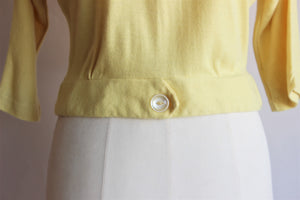 Vintage Late 1950s Yellow Blouse