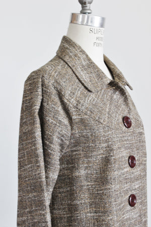 Ambition Jacket, Size Medium in Brown Tweed