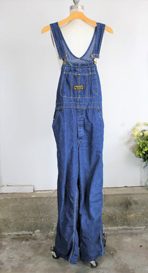 Vintage 1960's 1970's Denim Overalls by Washington DEE CEE