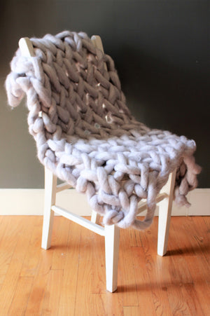 The Gray Pearl Super Chunky Knit Chair Cover