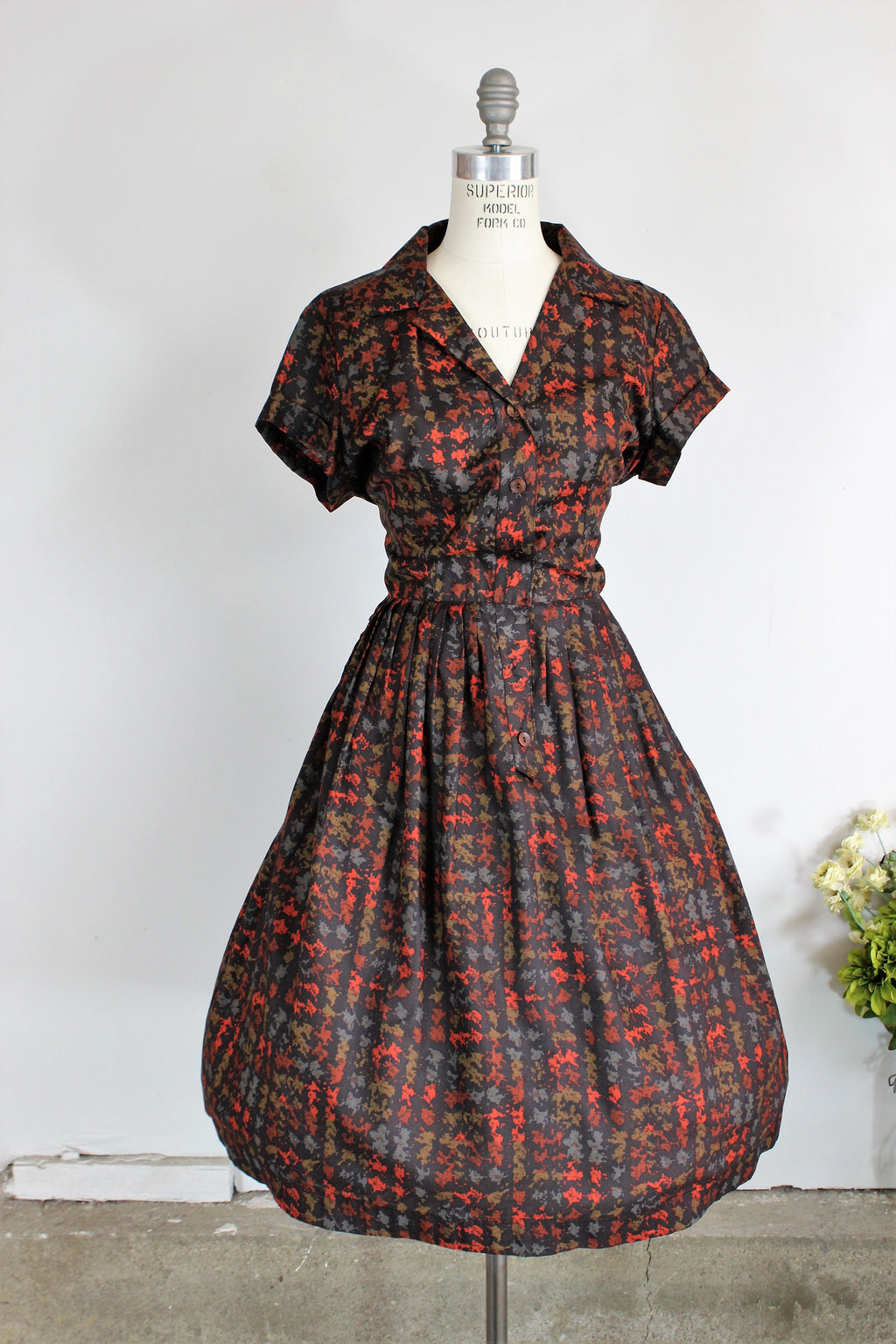 Vintage 1950s Shirtwaist Dress by Fashion First