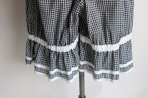 Vintage 1960s Gingham Swimsuit Costume in 1900s Style