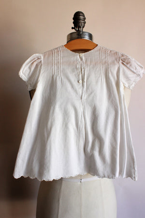 Vintage 1950s 1960s White Baby Dress