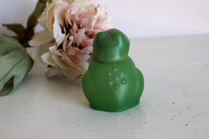 Vintage 1970s Avon Frog Figurine in Sweet Honesty Cologne