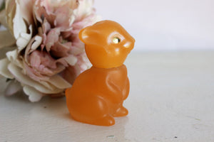 Vintage 1970s Avon Bunny Rabbit Figurine in Field Flowers Cologne