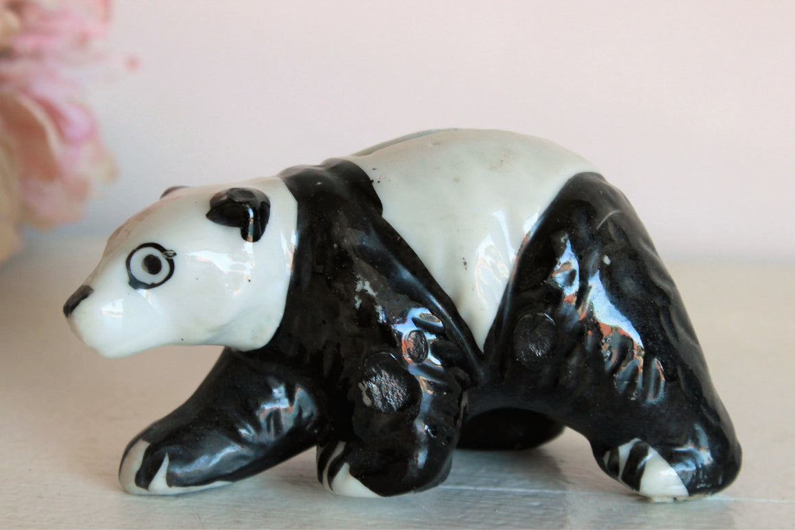 Vintage 1940s 1950s Panda Bear Piggy Bank