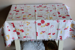 Vintage Fruit and Nut Tablecloth