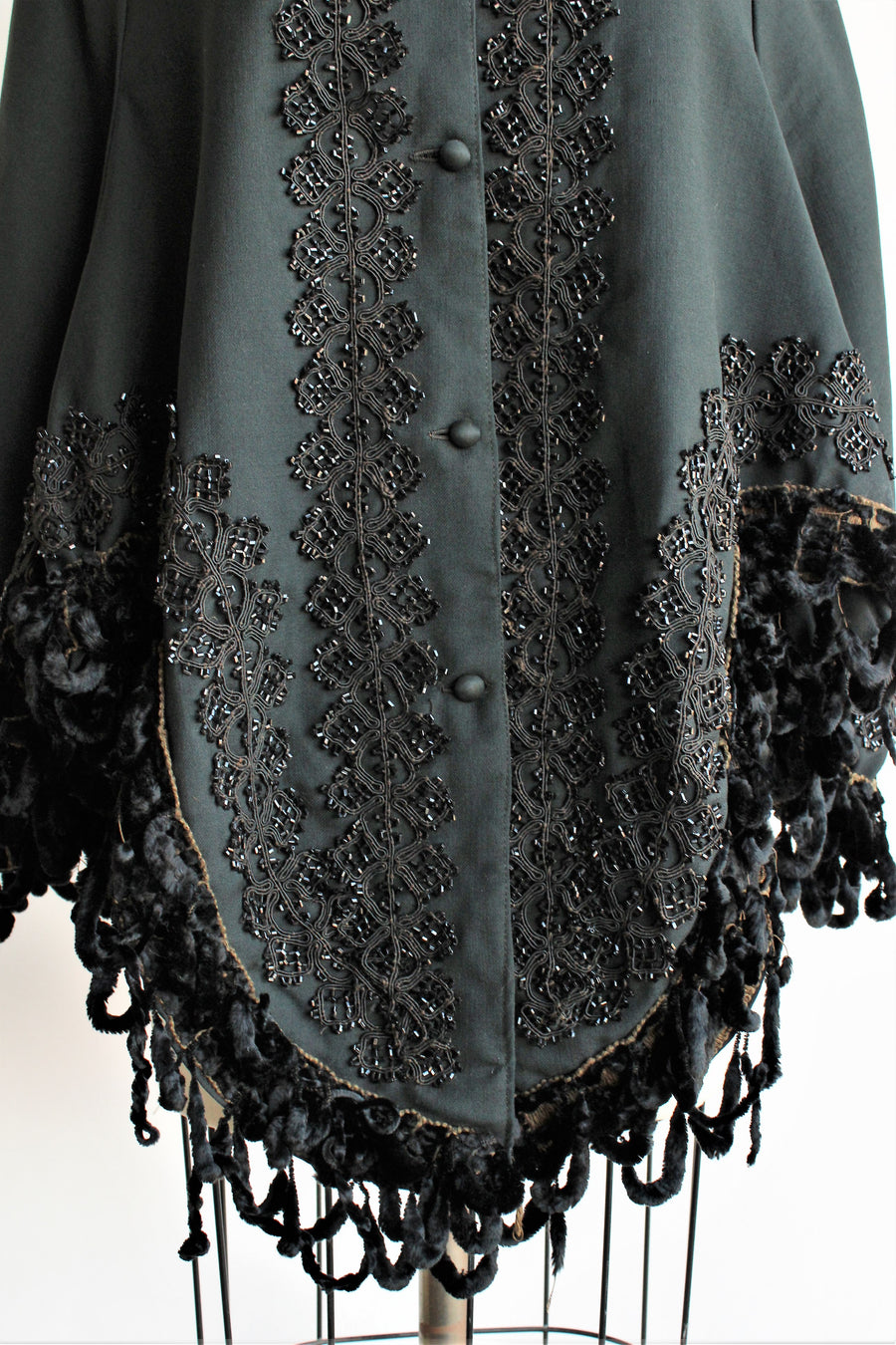 Antique 1800s Victorian Mourning Cape