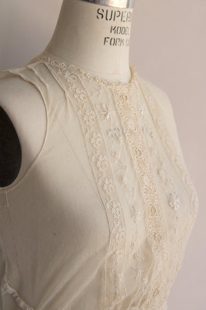 Vintage 1910s Sheer Mesh and Lace Blouse