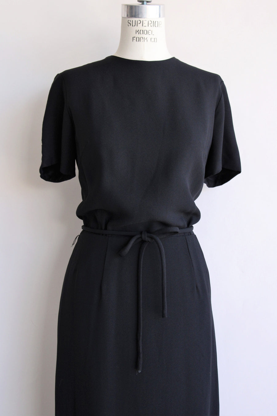 Vintage 1960s Black Dress by Georgee Originals