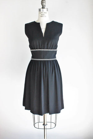 Vintage 1970s Romantica Victor Costa Black Cocktail Dress