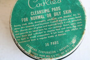 Vintage 1940s Duraglas Jar of Coolies Cleansing Pads