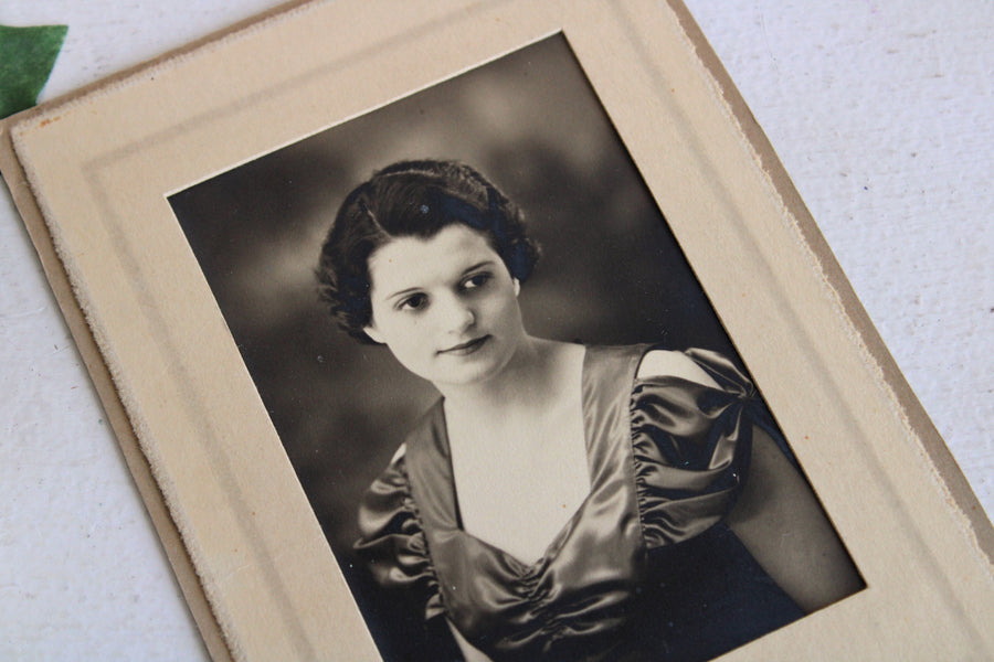 Vintage 1930s Sepia Photograph of a Woman's Portrait