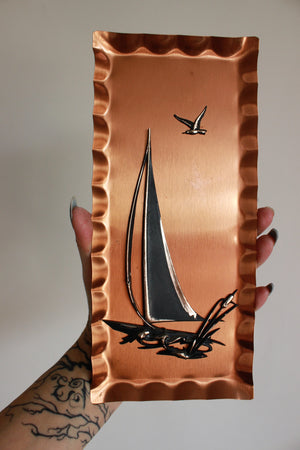Vintage 1960s 1970s Copper Wall Art Plaques