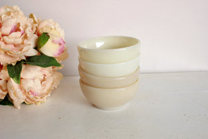 Vintage 1950s Ivory Fire King Milkglass Bowls
