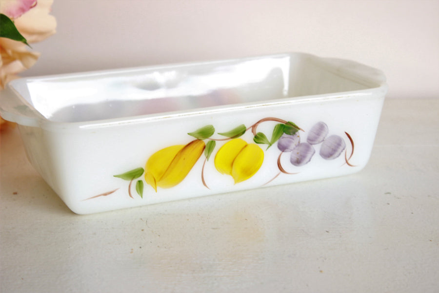 Vintage 1960s Fire King Loaf Pan