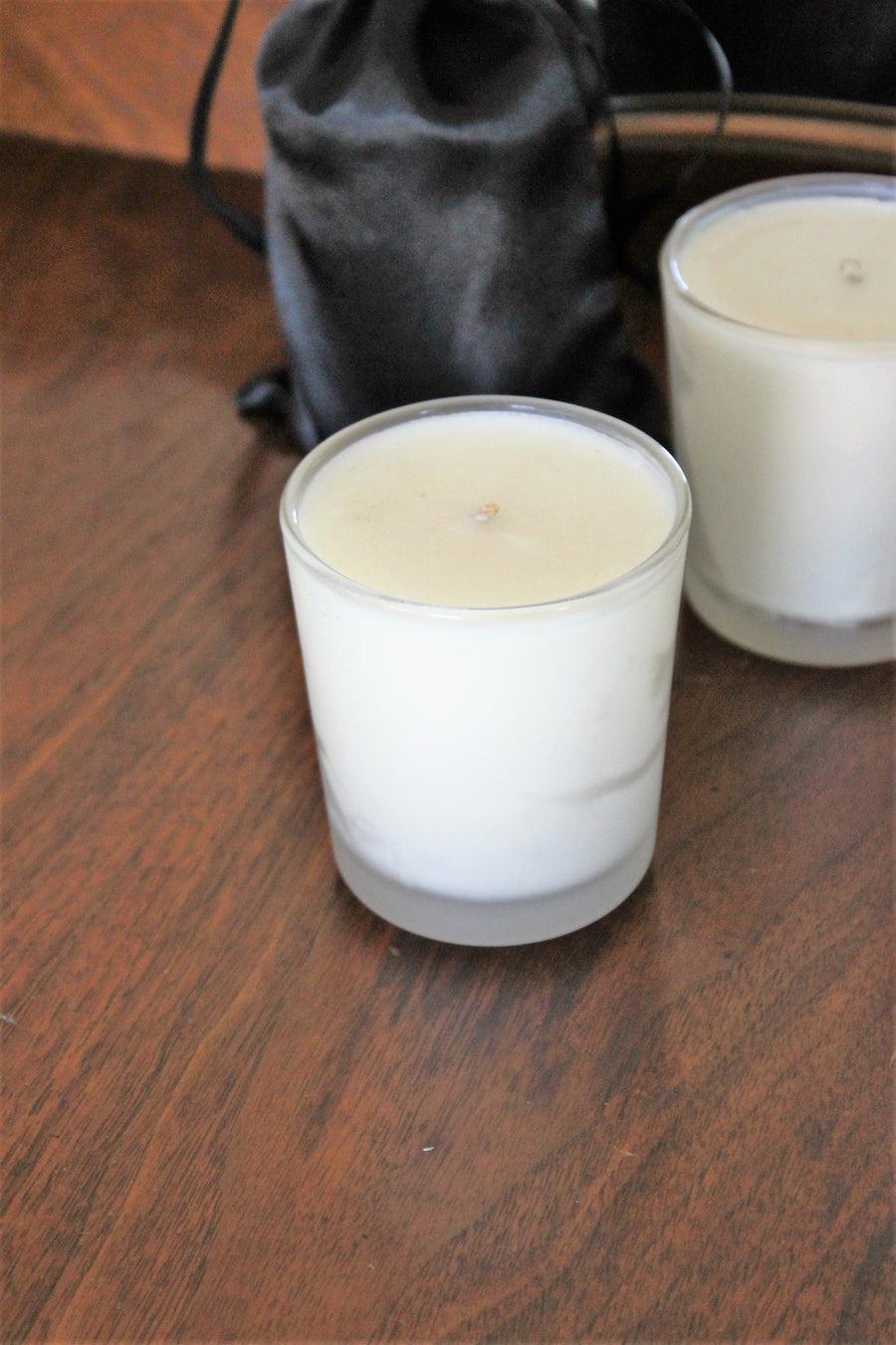 Organic Soy Candle In Three Scents: Lavender, Vanilla Toffee, Lavender Peppermint