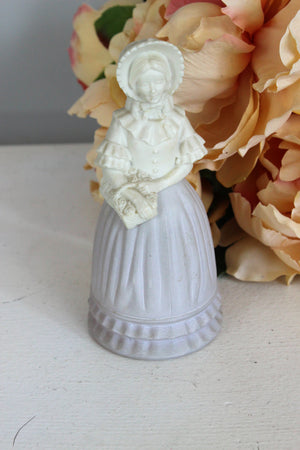 Vintage 1970s Avon Victorian Fashion Figurine in Field Flowers Cologne