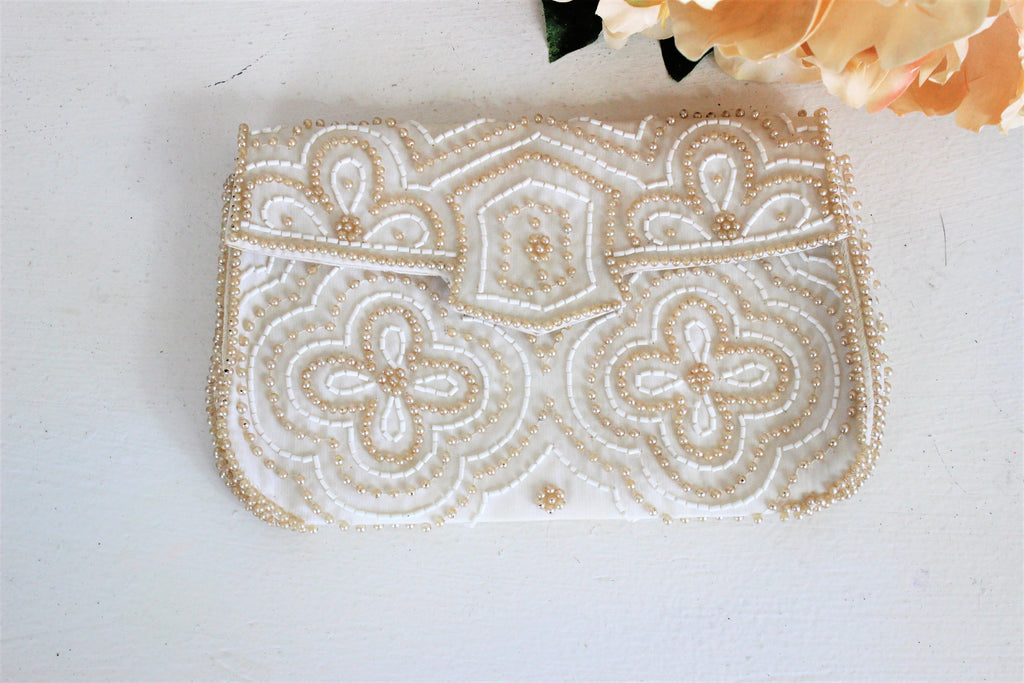 Vintage 1950s Beaded Clutch Purse by La Regale