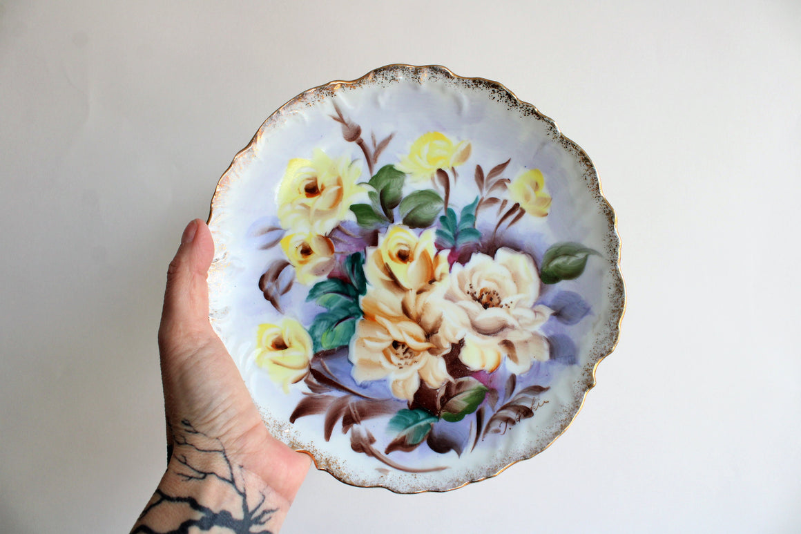 Vintage 1950s Handpainted China Plate