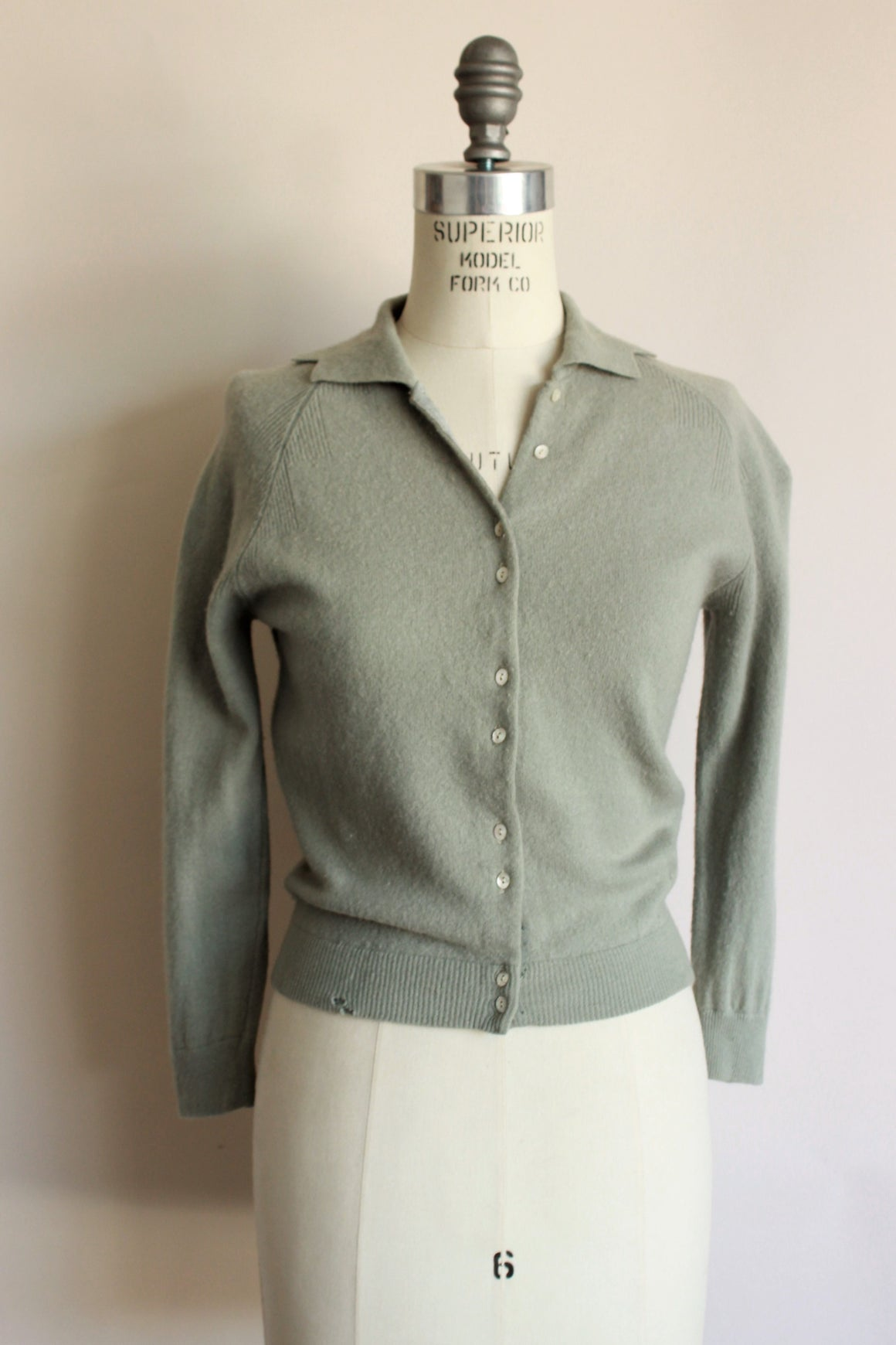Vintage 1940s 1950s Wool Cardigan Sweater