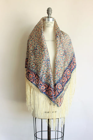 Vintage Silk Piano Shawl