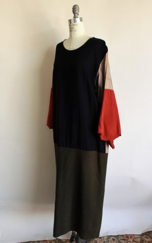 Vintage Hollywood Costume Long Wool Dress