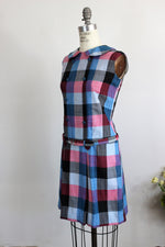 Vintage 1960s Mod Mini Scooter Dress With Belt