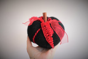"The ""Vampire"" Pumpkin Pillow Pouf in Cashmere"