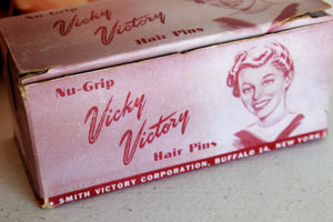 Vintage 1940s Hair Pins,100s of Vicky Victory Bobby Pins in Original Box