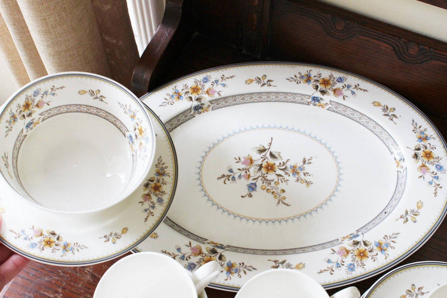 Vintage 1970s Mikasa Bone China, Chippendale Pattern