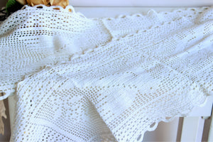 Vintage 1960s Crochet Table runners or Sofa Covers