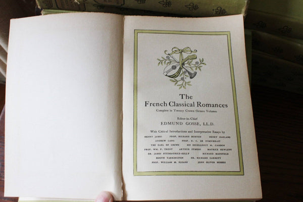 Vintage Books The French Classical Romances, Edmund Gosse , 1902 D. Appelton & Co Publisher
