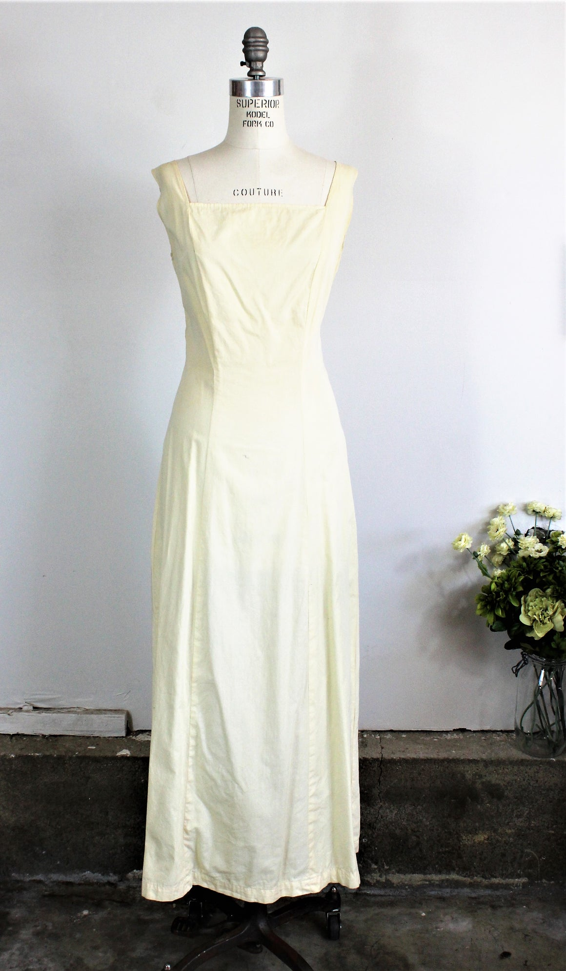 Vintage 1950s 1960s Yellow Slip Dress