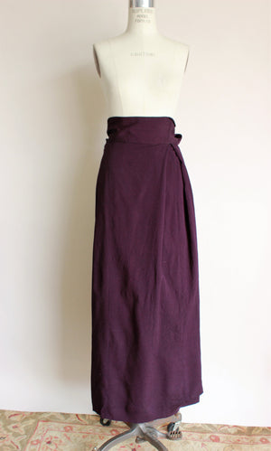 Vintage 1940s Purple Rayon Wrap Skirt